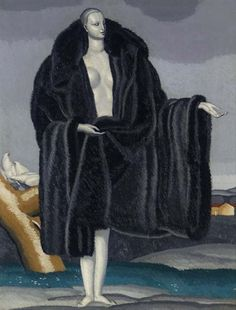 woman in furs, 1929 by Jean Dupas (French 1882- 1964)