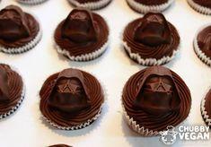 Triple chocolate cupcake with darth vader :3 #vegan #chubbyvegan #cupcake #chocolate #starwars #darthvader