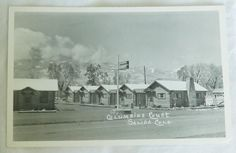 1950's COLUMBINE COURT SALIDA COLORADO REAL PHOTO POSTCARD RPPC