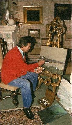 Pierre Brice malte sehr gerne in seiner Freizeit, und er zeigte auch hier großes Talent... Celebrity, Painting, Movies, Sailor, Remember This, Cinema, Celebs, Figurine, Painting Art
