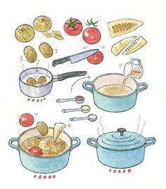 Food Art Painting, K Food, Watercolor Food, Food Patterns, Visual Diary, Food Illustrations, Pattern Wallpaper, Paper Dolls, Journal