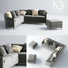 El día de hoy Ngoc Bau, de NB Studio, comparte a través de su página de Facebook un nuevo set de modelos 3D para descargar en forma gratuita, que incluye un sillón en L y dos otomanos.