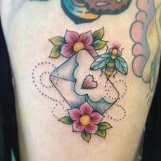 love envelope tattoo