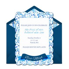 Printable Brit Bris Mila It S A Boy Invitation Baby