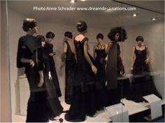 A lot of black dress styles, Fashion Museum, Bath England