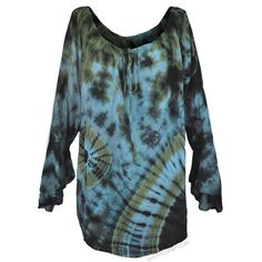 Gypsy Tie Dye Blouse on Sale for $29.95 at HippieShop.com