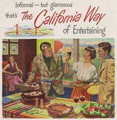 Wine Advisory Board ad for California Burgundy, 1950