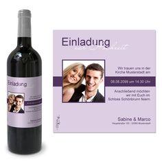 Weinetiketten zur Hochzeit als Einladung drucken #Hochzeit #Wein #Weinetikett #Giveaway