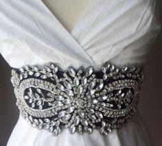 vintage inspired wedding sash belt