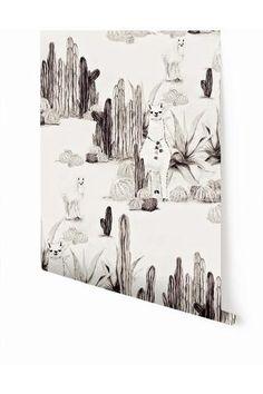 Wallpaper : Desert Llama© // Black + Cremé