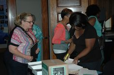 Registration at the AHC's June 7th event, Profiles in Arkansas Black History.