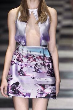 PRADA S/S 2010 I like the silhouette and fabric but not the print