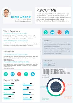 Visual Resume Cv Template Ai Cv Free Graphic Design Pdf