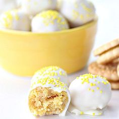 You only need four ingredients to make these cookie balls — no oven required! Get the recipe from Six Sisters' Stuff.   - Delish.com