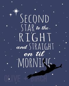 Peter Pan Second Star to the Right Version 2 by OliveandBirch