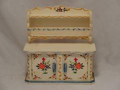 Dora Kuhn (Rare) Kitchen Cupboard- Vintage German Dollhouse furniture | eBay