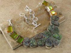 Huge chunky Stone gemstone necklace Druzy Mystic Fire Topaz http://jewelrygemstone.ecrater.com/p/15263159/huge-chunky-stone-gemstone-necklace