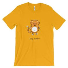 men t-shirt hug dealer cat lover collection in gold