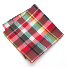 1940s Grimes Plaid Pocket Square