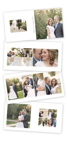 Beautiful photo book layout! Create one just like it in the desktop software! #smilebooks #photobook #wedding