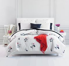 Get your room in full bloom this season with fresh floral prints — we're absolutely in love with kate spade new york's Willow Court Blush comforter and duvet sets