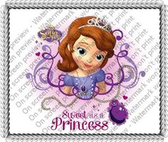 Sofia The First - Sweet as a Princess Edible Image Cake Topper: Amazon.com: Grocery & Gourmet Food