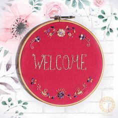 Welcome Sign_handmade embroidery