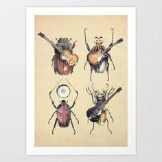 Meet the Beetles Art Print by Eric Fan - $18.00