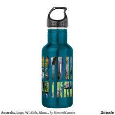 Australia, Logo, Wildlife, Aluminum Water Bottle. 532 Ml Water Bottle