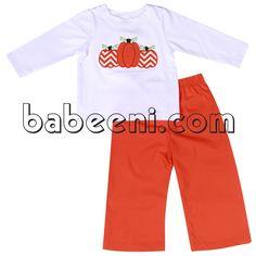 pumpkins applique T-shirt, adorable pumpkin applique T-shirt see more: http://babeenioverstock.com/Detail-adorable-pumpkins-applique-t-shirt-for-boys---bb717--3505.aspx