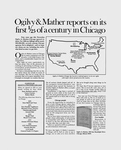 Ogilvy & Mather reports on its first of a century in Chicago