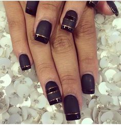 Matte with foil tape.