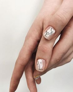 Minimalist Nails, Cute Nails, Pretty Nails, Hair And Nails, My Nails, Nail Art Vernis, Nail Nail, Manicure Y Pedicure, Manicure Ideas