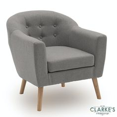 New accent chair Bedroom Seating, Bedroom Chair, Velvet Bedroom, Grey Accent Chair, Upholstered Accent Chairs, Grey Armchair, Grey Furniture, Contemporary Design, Living Room