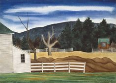 , Woodstock Landscape by George Ault