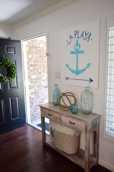 I love a driftwood inspired piece of furniture to bring a coastal vibe to a room! HomeGoods Sponsored Pin.