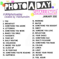 January Photo-a-Day Challenge ... can I start on the 12th?