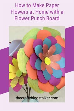 You can make beautiful paper flowers at home using the We R Memory Keepers Flower Punch Board. Create beautiful paper bouquets and home decor! #thecraftyblogstalker #WeRMemoryKeepers #largepaperflowers #paperflowers How To Make Paper Flowers, Large Paper Flowers, Paper Gifts, Diy Paper, Paper Crafting, Handmade Flowers, Diy Flowers, Flower Punch Board, Diy Gifts Videos