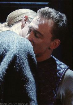 Community: 26 Gifs Of Tom Hiddleston Making Out. You're Welcome!  She's saying:  I'm gonna f*ck you so hard in the dressing room when this is over.