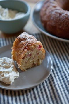 Rhubarb Yogurt Cake | A Sweet Spoonful