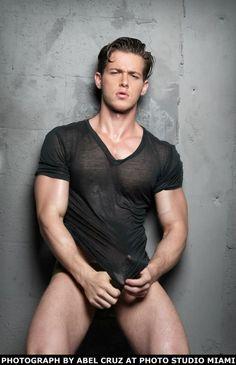 Joshua Michael Brickman in a wet tee shirt by photographer Abel Cruz Tyson Beckford, Hot Hunks, Raining Men, Male Beauty, Male Models, Sexy Men, Hot Men, Beautiful Men, Handsome