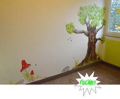 """Eine wunderschöne  Wandmalerei im Kinderzimmer """"Nachher"""" von der Internetseite http://www.kreativsein-blog.de/"""