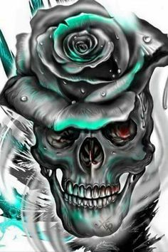 DIY Diamond Painting Full Drill Art Skull Home Decors Kits Embroidery Gifts Skull Tattoos, Rose Tattoos, Body Art Tattoos, Totenkopf Tattoos, Skull Pictures, Skull Artwork, Geniale Tattoos, Skull Wallpaper, Sugar Skull Art