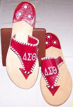 Delta Sigma Theta sandals