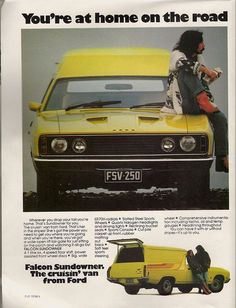 Australian Ford Falcon Panel Van, 1977 by glen. Australian Muscle Cars, Aussie Muscle Cars, Ford Falcon, Ford Classic Cars, Classic Auto, Car Advertising, Car Ford, Ford Motor Company, T Rex
