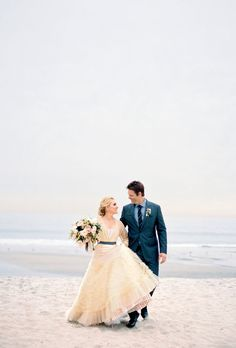 A Formal Beach Wedding in San Diego, California