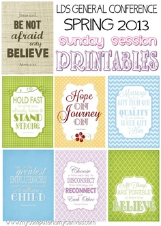 General Conference Inspirational Quotes Printables #inspirationalquotes