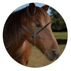Horse on Round Clock