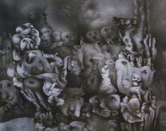 Invention of a Dream - Richard Oelze - - Surrealism, 1960 Max Ernst, Salvador Dali, Surrealism Painting, Museum, Arte Popular, Art Database, Fantastic Art, Installation Art, Dark Art
