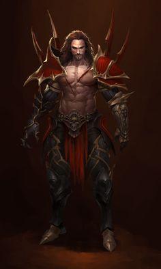 ArtStation - Deimos, Bangku An Fantasy Character Design, Character Creation, Character Design Inspiration, Character Concept, Character Art, Concept Art, Fantasy Art Men, Fantasy Armor, Vampires